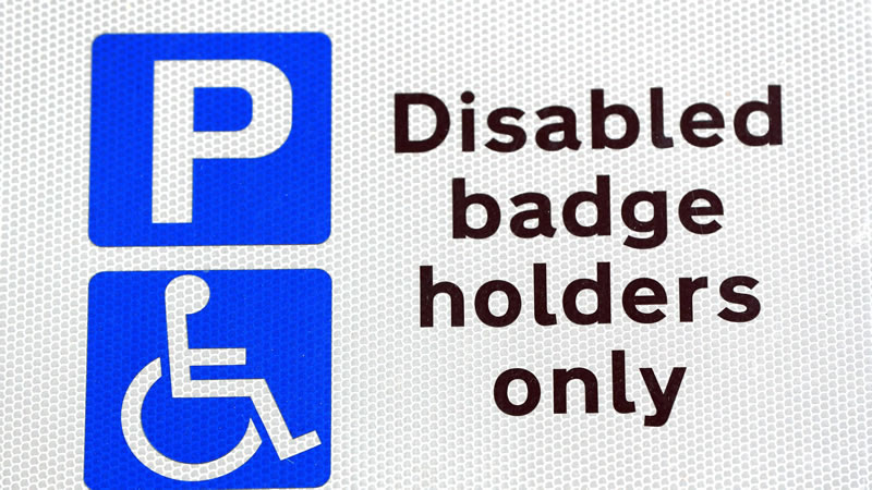 Blue Badge Holder Only Sign